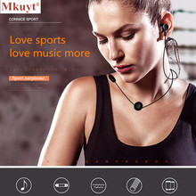 MKUYT Wireless Bluetooth Earphone Sport Running Headphone Metal Magnetic Headset Stereo Bass Earbud Handsfree with Mic for Phone
