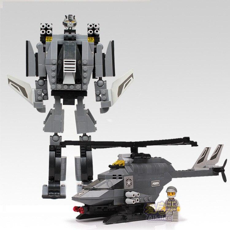 244 шт. модель робота-вертолета DIY, вставляемые строительные блоки, детские развивающие игрушки для игры в мозги, игрушка, кирпич, подарок ...