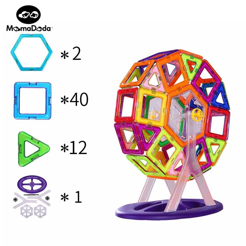 ФОТО Magnetic Blocks Toys For Children Magnetic Construction Set Building Toys DIY Educational Toys For Kids Children Christmas Gift