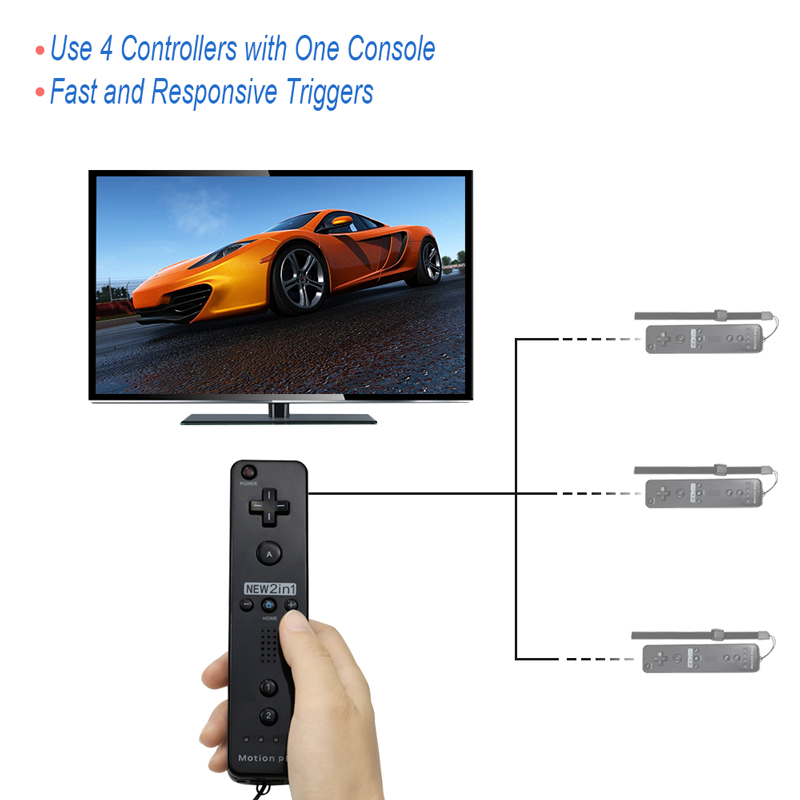 Built-in Motion Plus Wireless Remote Gamepad Controller For Nintend Wii Nunchuck For Nintend Wii Remote Controle Joystick Joypad 5