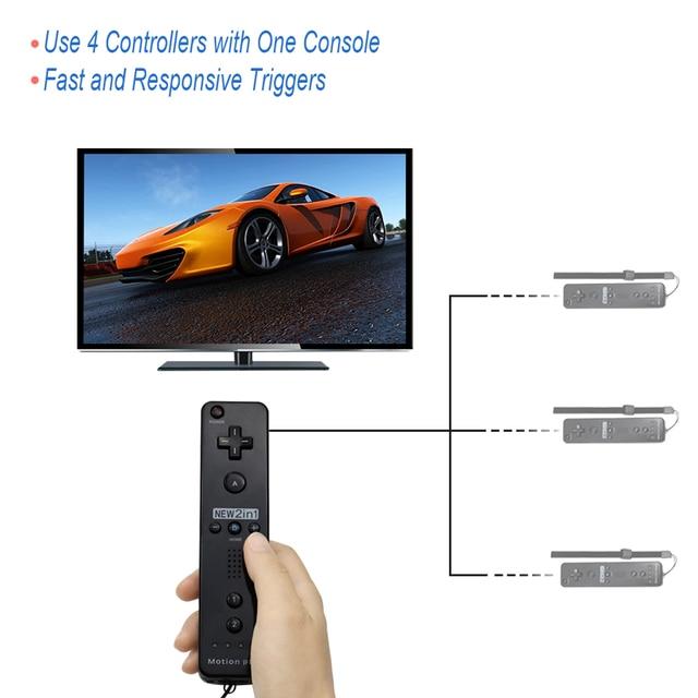 Built-in Motion Plus Wireless Remote Controller Gamepad Per Nintend Wii Nunchuck Per Nintend Wii Remote Controle Joystick Joypad 5