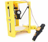 High Precision MiNI Desk Delta 3D Printer + 3D Pen Set Guide DIY Kit Kossel Delta SD Card & Filament For Free