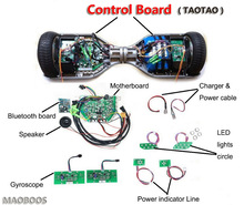 DHL free shipping Wholesale CE FCC RoHS TAOTAO Control Board Motherboard for 2 wheel Self Balancing Bluetooth Music Scooter