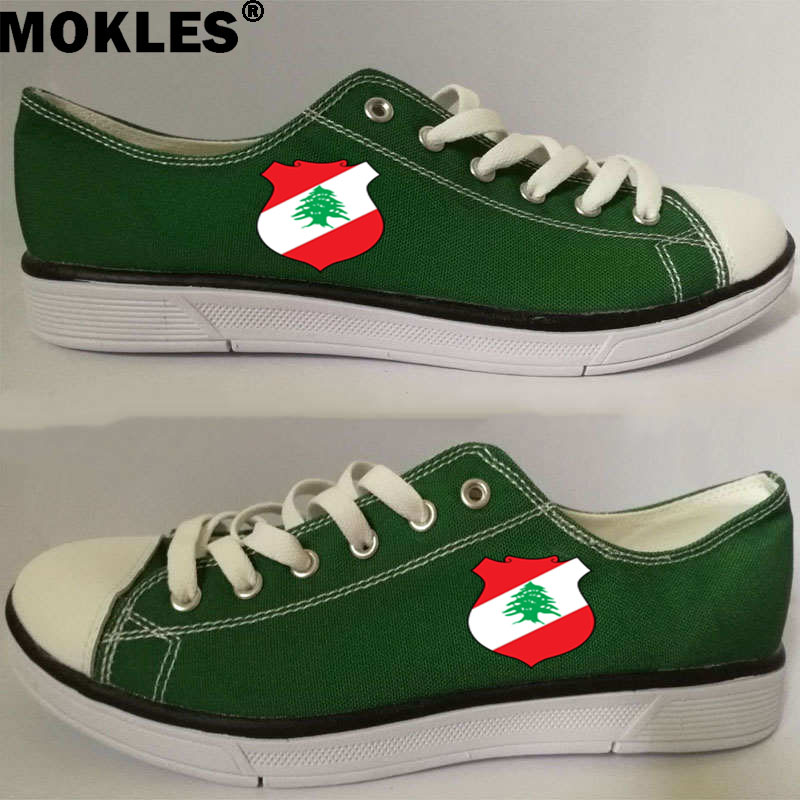 LEBANON men s shoes free custom name photo lbn couple shoes nation flag lb republic arabic arab lebanese country casual shoes