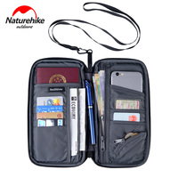 Naturehike Unisex Waterproof Multi Function Outdoor Sports Travel Wallet Bag For Cash Passport Cards Travel Hiking