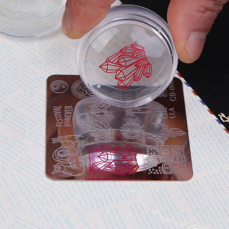 2017 nova forma de garrafa fosco arte do prego stamper raspador com tampa pedaço estilo silicone geléia 3.5cm prego carimbo ferramentas, m525454