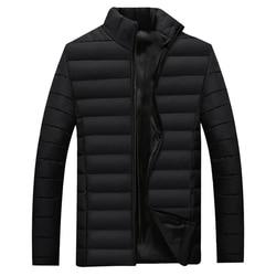 The North 2018 Winter Jacket Men Cotton Warm Stand Collar Coat Winter Outwear Mens Warm Down Casual Coats Zipper Pocket Face