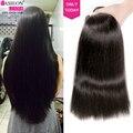 Peruvian Virgin Hair Straight With Closure 7A Unprocessed Peruvian Straight Hair With Closure Cheap Human Hair Weave Tangle Free
