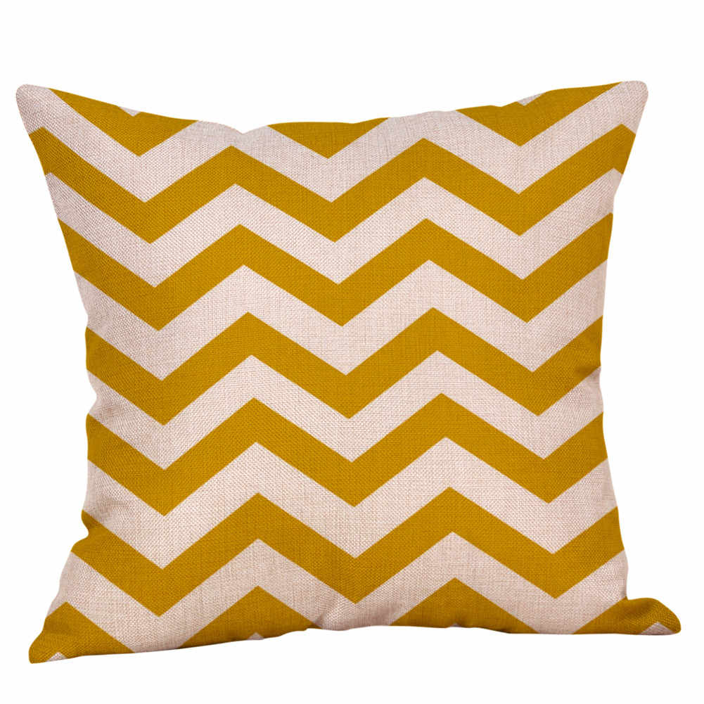 Cushion Cover yellow pillow cover decorative pillows Throw PillowCase Geometric Autumn Cotton Linen Decorative maison F731