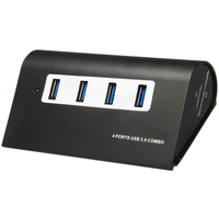 USB Hub Card Reader Leadzoe USB splitter with 4 USB 3.0 Port and SD/TF Smart Card Reader and 1 Meter Data Cable
