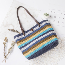 Lovevook women handbag for summer handmade Straw shoulder ba