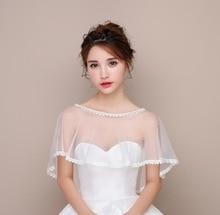 Bridal Jacket Summer Boleros For Wedding Cheap Applique Wedding Jacket 2018 Appliques Edge Wedding Accessories