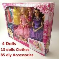 Doll Fashionista Ultimate Dressup Dolls Set Gift Box Toy Fashion Princess bjd Dolls Accessories for barbie girls dream set gift