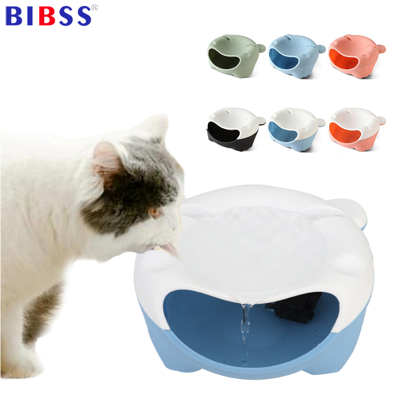 Pet Cat Water Fountain Luminous Water Fountain Dog Drinker Bowl Pet Electric Drinking Fountain with USB/Plug charging