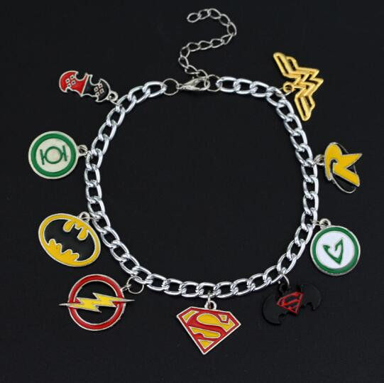 19 Style Unisex Charm Bracelet Bangle Supernatural Doctor Who Horcrux Superman Batman Star Wars Zelda Game of thrones Justice