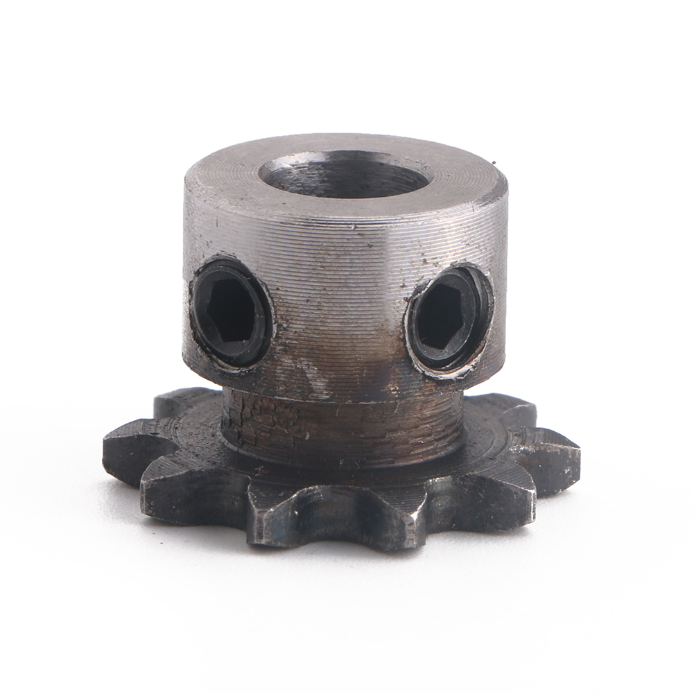 8mm Bore 10T 10 Teeth Metal Pilot Motor Gear Roller Chain Drive Sprocket New