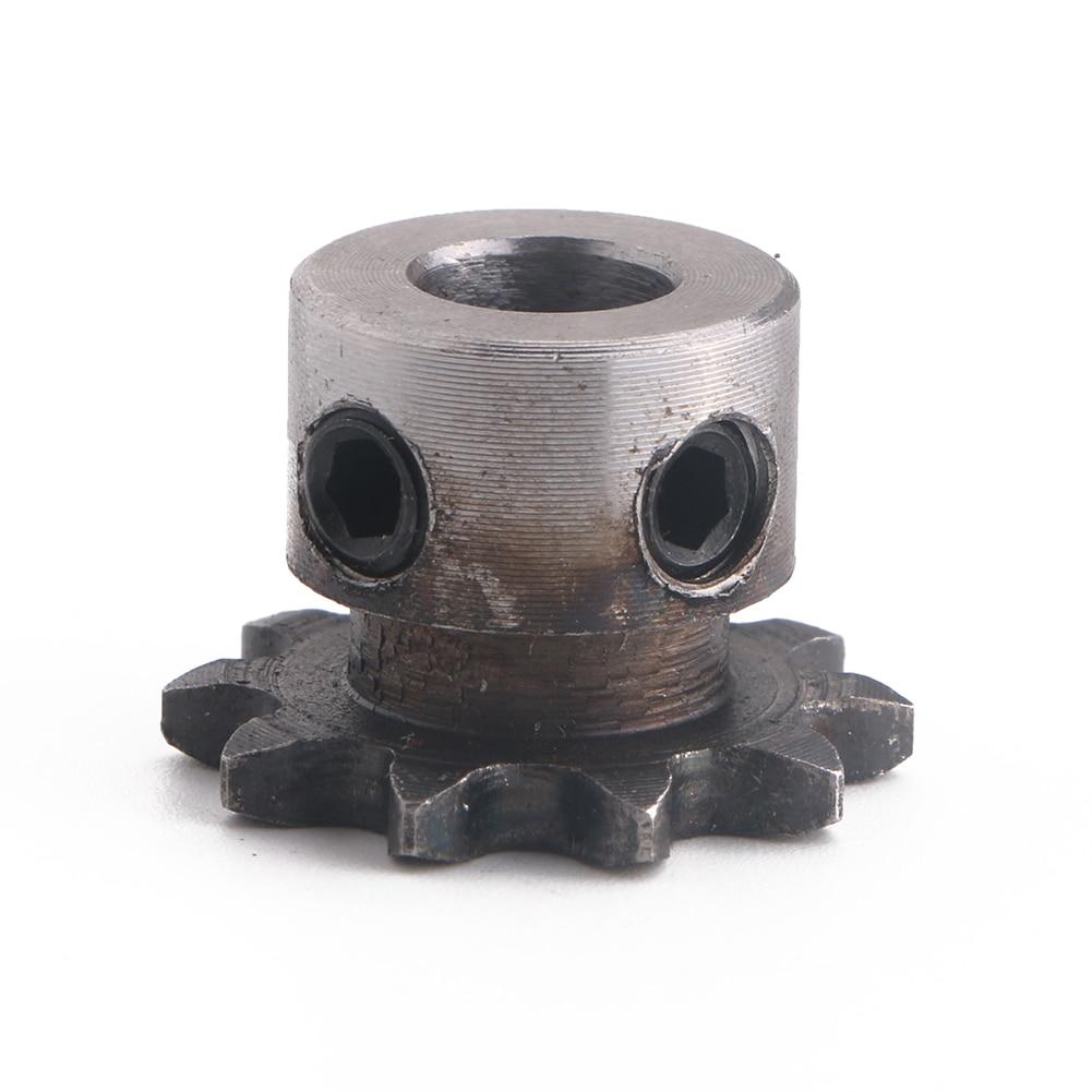 8mm Bore 10T 10 Teeth Metal Pilot Motor Gear Roller Chain Drive Sprocket New