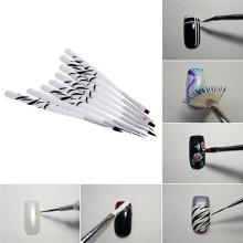 8Pcs Nail Brush Set Art Design UV Gel Drawing Painting Polish Pen Tip Salon Tool