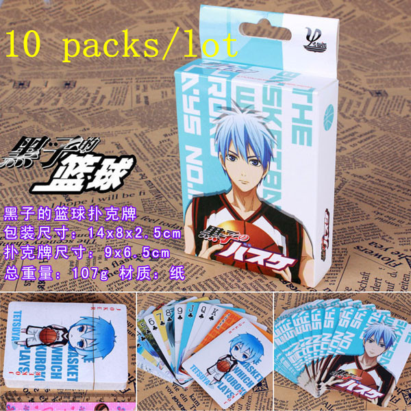10pcs/lot anime Kurokos Basketball Poker for Collection Kuroko No Basketball Game Cards  ...