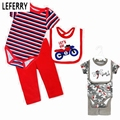 Cotton Newborn Baby Clothes Sets Unisex Bodysuit + Trousers + Bibs Baby Boy Clothes Baby Girl Clothing Sets Jumpsuit summer 2016