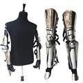 Punk Metal Silver Handmade MJ Michael Jackson Exactly Same History Concert Armor Custume Set