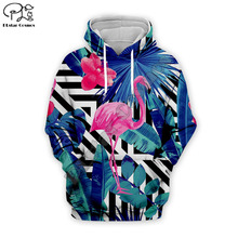 Women Boho Flamingo 3D Hoodie Sweatshirts Men Hoody Pullover Vacation Beach Coconut Trees Autumn Tracksuits Hooded Homme Jumper trees sunset 3d print pullover hoodie