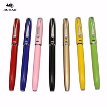 JINHAO Y6 Fine fountain pen 7 colors Stationery Office school supplies calligraphy pen fountain pen 0.38mm(China)