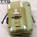 TTGTACTICAL Cordura Nylon MOLLE Military Waist Bags Army Pocket Organizer Bag with Front Phone Pocket Dual Zipper