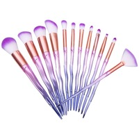 New Makeup Brushes Professional 12 Pcs Makeup Brush Set Synthetic Hair Gradient Color Highlighter Powder Eyeshadow