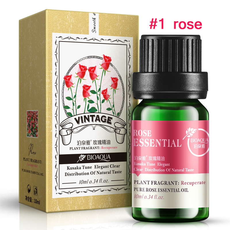 Essential Oil: 100% Pure 10ml Pure Lavender Rose Tea Tree Beauty Eyes Essential Oils for Aromatherapy Spa Massage Skin care YLL434