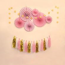 Paper fan flower Kit wedding backdrop decoration birthday party hanging decorations Party DIY decor Decoration