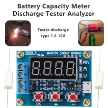 Battery Charging Indicator ZB2L3 Li-ion Lithium Lead-acid Battery Capacity Meter Discharge Tester Analyzer цена в Москве и Питере