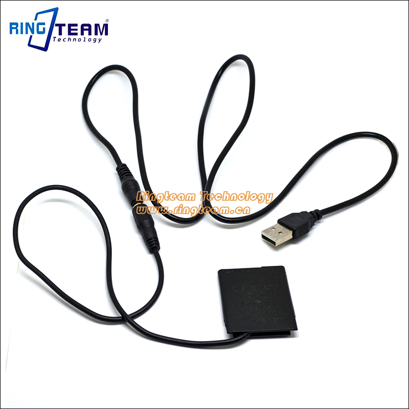 Power USB Cable + DK-1N DC Coupler for Sony Cybershot Camera DSC J10 T99 T110 TX5 TX7 TX9 TX10 TX20 TX55 TX66 TX100 TX200 TX310