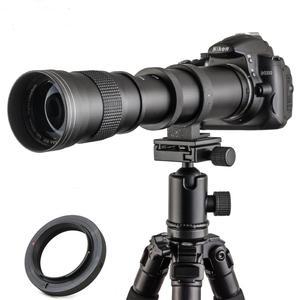 Image 2 - JINTU 420 800mm F/8.3 16 آلة تكبير تليفوتوغرافي عدسات لكاميرات كانون EOS 650D 750D 550D 800D 1200D 200D 1300 5DII 5D3 5DIV 6D كاميرا رقمية
