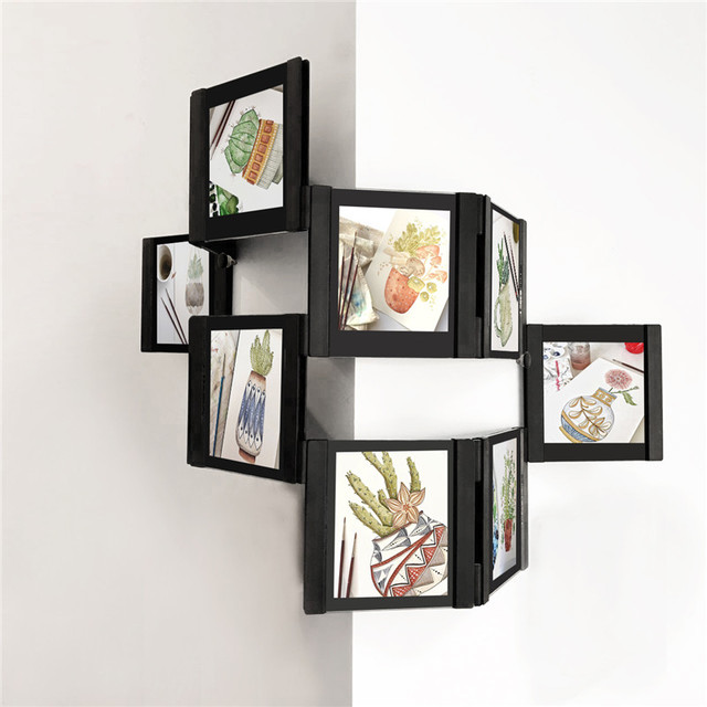 3d diy transparent wall collage picture frame desktop photo frames set easily to assemble and detachable - Diy Collage Frame