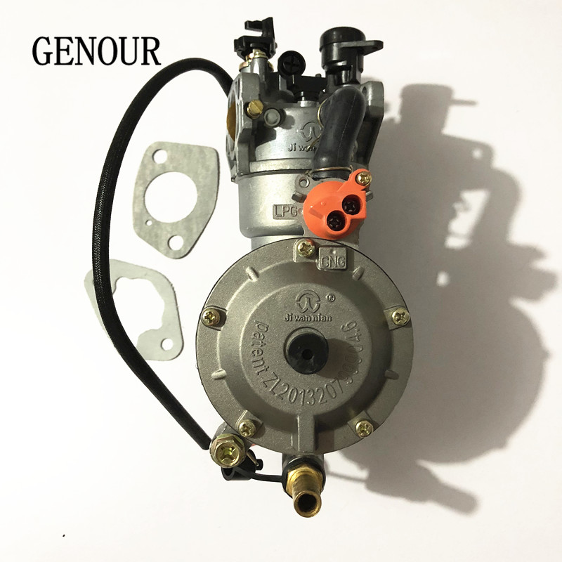 LPG carburetor for GASOLINE to LPG NG CONVERSION KIT,LPG conversion kit for gasoline generator 5KW/6KW 188F 190F AUTO CHOKE new design jiwannian lpg