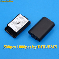 500pcs 1000pcs DHL EMS AA Battery Cover Door For Xbox 360 Controller Black Back Case Shell Pack Kit For Xbox360 Gamepad Joystick