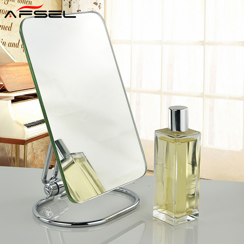 AFSEL New Pattern Square Table Mirror One Side HD Fold Portable Travel Goods Household Flat Cosmetic Compact Mirror Household