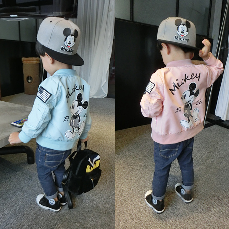 2018 New Arrival Boys Brand Jackets Long Sleeve Kids Cartoon Printed Winter Clothes Outerwear Baseball Coat Cool In Coats From Mother