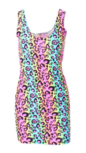EAST KNITTING 2017 Women summer dress X-193 neon Leopard striped print women fashion dresses punk bodycon brand dress