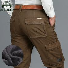 AFS JEEP marka męska Cargo spodnie męskie na co dzień wielu kieszeni wojskowy ogólne mężczyźni na zewnątrz wysokiej jakości długie taktyczne spodnie tanie tanio ZHAN DI JI PU Cargo pants Safari Style Luźne COTTON Poliester Lycra Mikrofibra Pełnej długości Midweight Mieszkanie