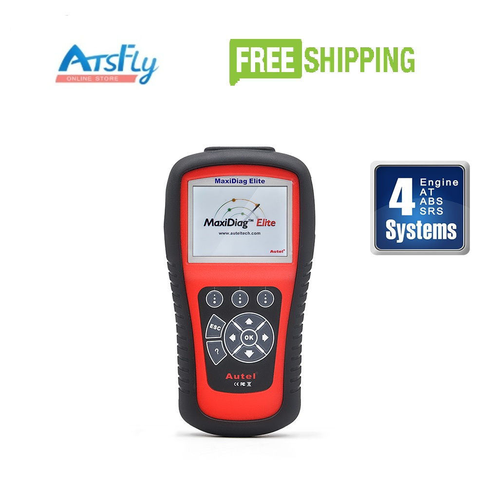 Autel Maxidiag Elite MD802 4 System 4 IN 1 Code Scanner MD 802 (MD701+MD702+MD703+MD704) + DS Model autel md801 pro 4 in 1 code scanner jp701 eu702 us703 fr704 maxidiag pro md 801 code reader