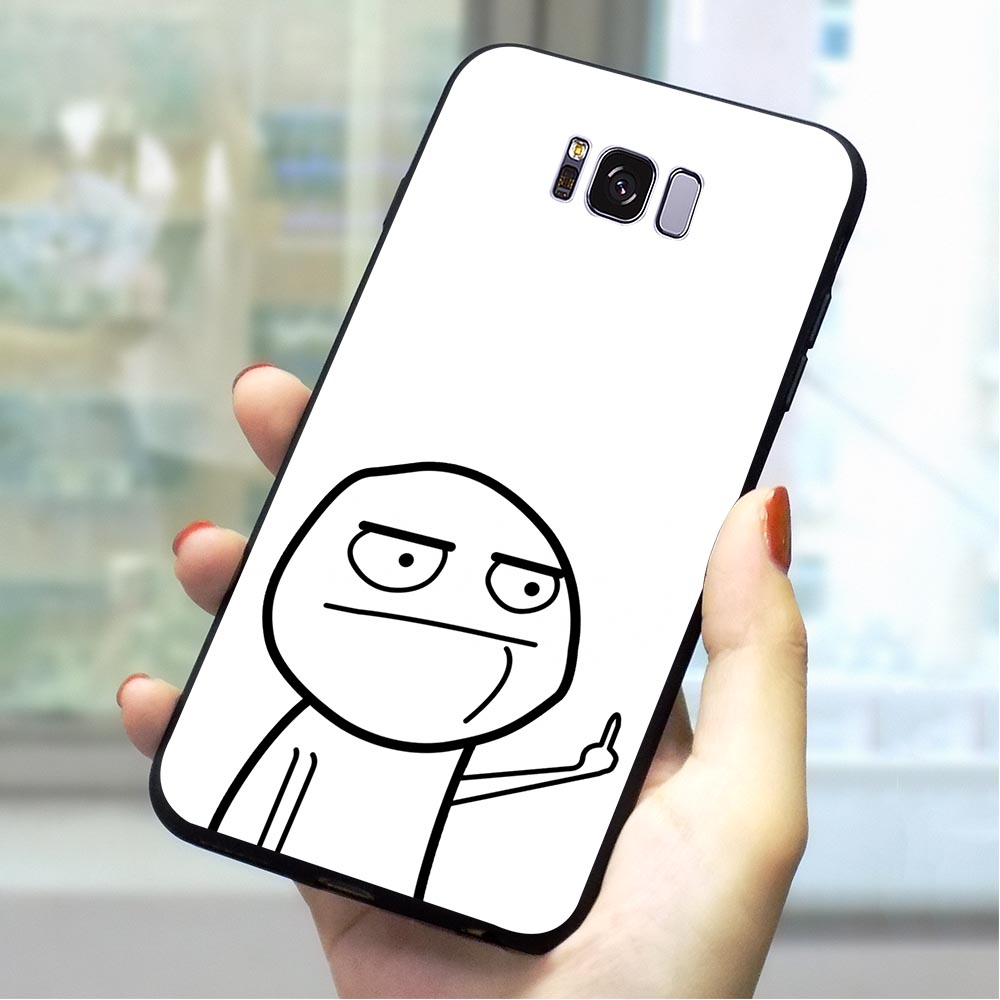 Meme face Soft TPU Cover for Samsung Galaxy A5 2017 Phone Case for A6 2016 A7 2018 A8 A9 A10 A20 A30 A40 A50 A70 A3 Cases Back image