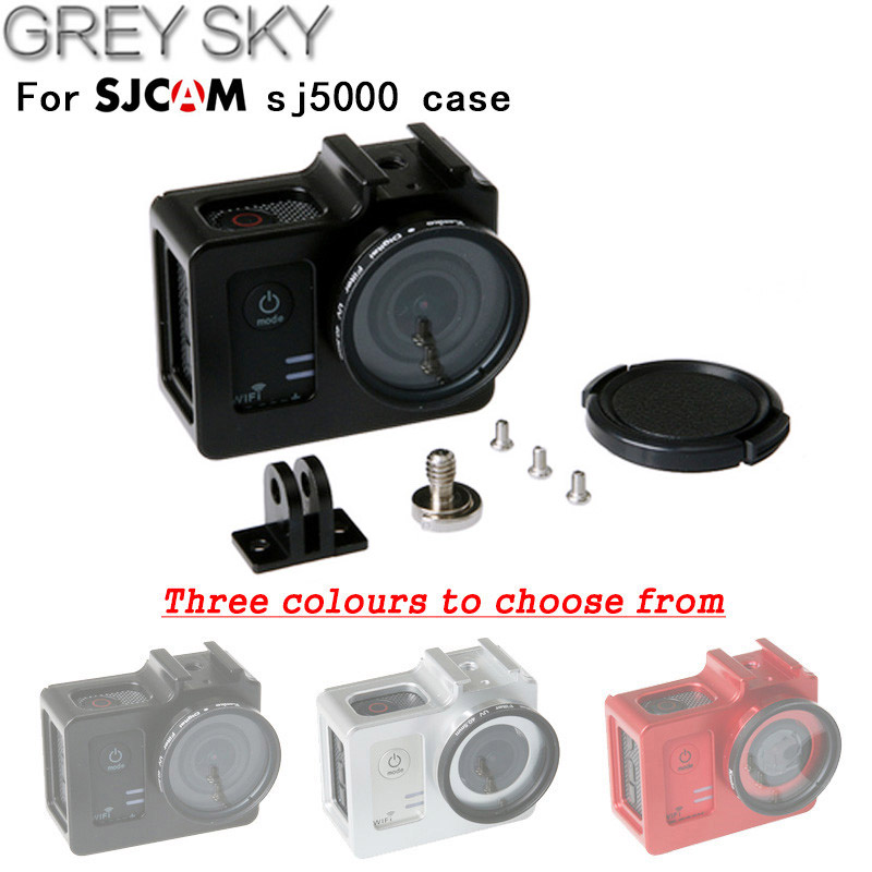 02d48fd9a55 Cheap Para SJCAM SJ5000 SJ5000x Carcasa protectora de la cubierta de la  caja de Metal Cámara
