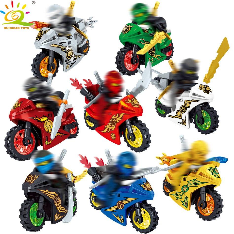 Blocks 8pcs/set Ninjaed Motorcycle Building Blocks Compatible Legoingly Ninjagoes Kai Jay Figures Bricks Educational Toys For Children We Take Customers As Our Gods
