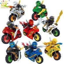 f94b42449b66a 8 pièces ensemble Ninjaed moto blocs de construction compatibles avec les  Ninjagoes kai Jay chiffres briques jouets éducatifs po.