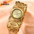 AMUDA Marca Mágica Nova Moda Senhora Relógios de Ouro Mulheres de Aço Inoxidável Completa relógios de Pulso de Quartzo Relojes Mujer Relogio feminino