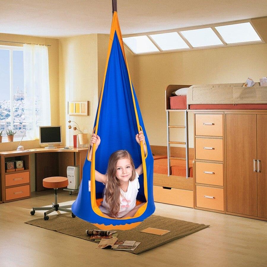 60 Cm Diameter Colorful Design Children Hammock Garden Furniture Swing Chair Indoor Outdoor Hanging  Child Hammock Swing Seat