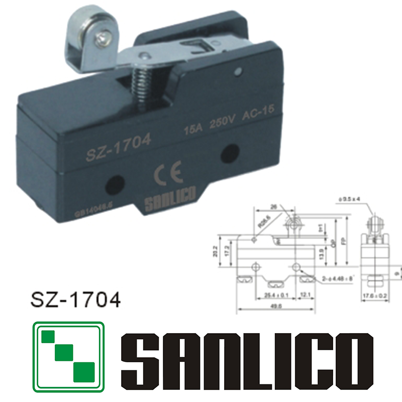industrial mechanical precision elevator limit switch micro switch SZ(ME TZ)-1704 15Aindustrial mechanical precision elevator limit switch micro switch SZ(ME TZ)-1704 15A