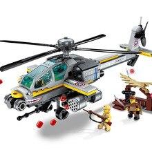 Просветите военный Apache Raid вертолет WW2 спецназ pubg цифры строительные блоки наборы дети игрушки Совместимость legoings